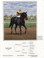 Seattle Slew photo from oil painting  Horse Racing
