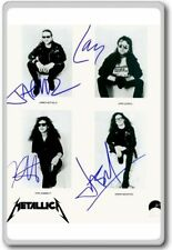 Metallica Autographed Preprint Signed Photo Fridge Magnet