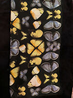 Authentic Vintage Echo Brand Silk Butterfly Scarf Xlarge With Fringe 35 x 35
