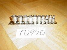 Mac Tools 10 Piece 14 Drive Metric Short Chrome Socket Set 6 Point 5mm 14mm