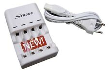 Strong Elixia Ladegerät für Wegwerf Batterie Alkaline NiMH NiCd AA AAA Akkus