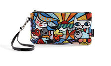 Romero Britto wristlet clutch Garden Cat, fish, butterfly - Authentic