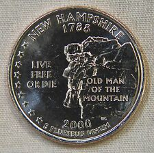 2000-P Uncirculated New Hampshire Statehood Quarter - Single