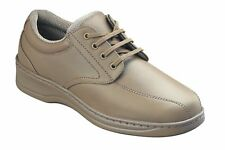 ORTHOFEET Orthotic TAUPE Lake Charles Lace-Up LEATHER Casual Shoes Size 11.5 XW