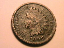 1898 VG Crusty Original Toned Very Good Indian Head Cent Small One Penny US Coin