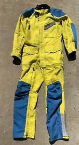 Aerostich Roadcrafter One piece Riding Suit Size 40 Regular Yellow / Blue
