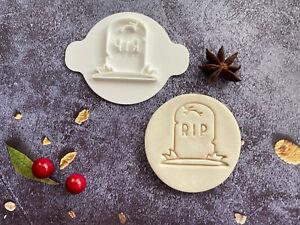 RIP Tombstone | Halloween | Embossing Stamp | ebs129 | Cupcake | Fondant Cake
