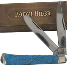 Rough Rider Turquoise Handles Trapper Pocket Knife RR1371 2 Folding Blades