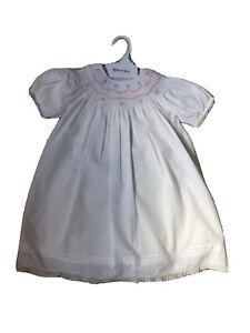 NWT Feltman Brothers sz 12m girls bishop smocked dress