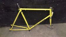 Vintage 70s Schwinn Le Tour 62cm road bike frame + fork ~ Bright Yellow