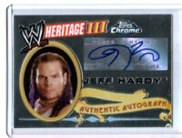 WWE Jeff Hardy 2008 Topps Heritage III Chrome Authentic Autograph Card