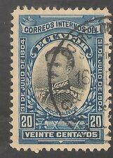Ecuador #164 VF USED - 1904 20c Captain Abdon Calderon - SCV $8.00