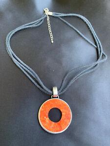 Silpada 925 Sterling Silver/ Coral Sponge Necklace