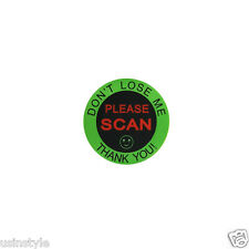 "120 Labels Green 1-3/8"" DON'T LOSE ME PLEASE SCAN Reminder Mailing Stickers New"