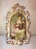 Vtg 40-50's Arnart 5th Ave. Hand Painted Japan Victorian Lady Mandolin Figurine