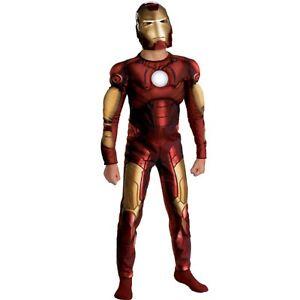 Boys Iron Man Marvel Avengers Civil War Kids Childs Fancy Dress Costume Age 3-7