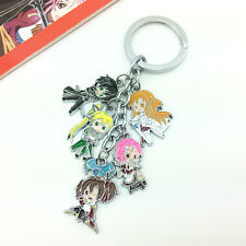 SAO Sword Art Online Asuna kirigaya kazuto Cosplay Key Chain Hanging Drop Toy