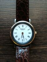 Raymond Weil Geneve 5782 Ladie's Swiss Watch 18K Gold Plated Leather strap used
