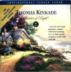 Thomas Kinkade-Painter of Light-Messages of Peace Screen Saver-CD-ROM 1998