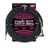 Ernie Ball PO6081 Braided Instrument Cable 10 Ft. Black UPC 749699160700
