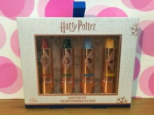 Brand New Unopened Set Of 4 Harry Potter Colour Changing Lipsticks Christmas...