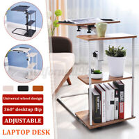 Adjustable Height Computer Desk Sit & Stand Mobile Table Home Offic