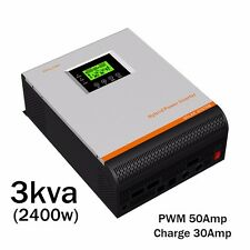 Inverter reine Sinuswell 24V 230V 3000KVA 2400W PWM 50A AC-Ladegerät 30A 3 IN 1