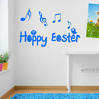 HAPPY EASTER WINDOW NEW WALL DECAL STICKER VINYL DECOR ART DECORATIVE DIY DECO