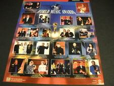 World Music Awards 1997 2-side Promo Poster Ad Celine Dion Bon Jovi Bee Gees etc