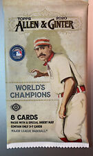 2020 Topps Allen Ginter HOBBY pack. 8 Cards, Look For Auto's, Relics, Rip Cards