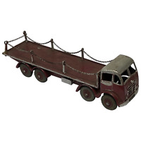 Dinky Model Toy 905 Foden 8 Wheel Transporter Flatbed Maroon Truck With Chains