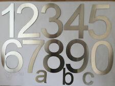 Hausnummer Postschild Türnummer Nummer und Buchstaben aus Edelstah - Auswahl