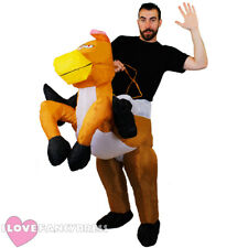 INFLATABLE HORSE COSTUME RIDING RIDE ON COWBOY JOCKEY RACING STAG NIGHT PARTY