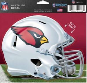 "Arizona Cardinals Helmet 5"" x 6"" Multi Use Decal Static Cling - Truck Car Window"