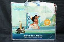 "Disney Moana ""Island Girl"" Sherpa Throw Blanket 50""x60"""