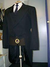 Herrenfrack in schwarz mit  Weste Gr.52