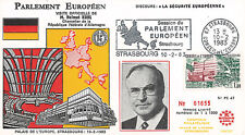 "PE47 FDC Parlement européen ""Visite M. Helmut KOHL, Allemagne"" 02-1983"
