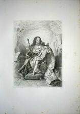 GDE GRAVURE XIXè LOUIS XV ENFANT TRONE LIT DE JUSTICE SEPTEMBRE 1715