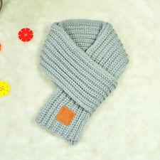 Cute Boys Girls Baby Kid Fashion Knitted Scarf Autumn Winter Warm Solid Scarf