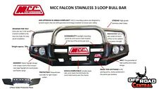 MCC 4X4 FALCON STAINLESS BULL BAR, LAND ROVER DISCOVERY SERIES 1 & 2 1990 - 2004