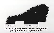CASINO 2012-13-16 5-Ply Black Pickguard 60 Deg Edge for Epiphone Guitar Project