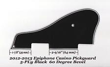 CASINO 2012-13-16 5-Ply Black Pickguard 60 Deg Edge for Epiphone Guitar Project