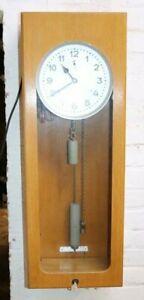 Alte BÜRK Hauptuhr Mutteruhr Wanduhr Uhr 24V  im Holzgehäuse  /y689