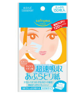 Kose Softymo Super quick absorption Oil Blotting Paper NEW type 150 sheets JP