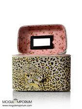 PU Leather Leopard Animal Print Cosmetic Storage Box Makeup Beauty Vanity Case