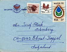 South Africa/Südafrika    Airletter from 1962 used and sended in 1970