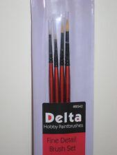 Delta Model Paint Brushes Fine Detail Brush Set BS42