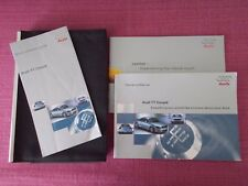 AUDI TT COUPE (1999 - 2006) OWNERS MANUAL - OWNERS GUIDE - HANDBOOK. (ACQ 5734)