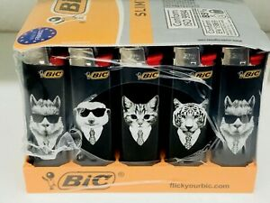 50 X BIC SLIM LIMITED EDITION PETS PATTERN LIGHTERS FREE POSTAGE