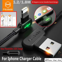 L Shape Fast Charging Mcdodo Lightning Charger  Reversible Usb Unbreakable Cable